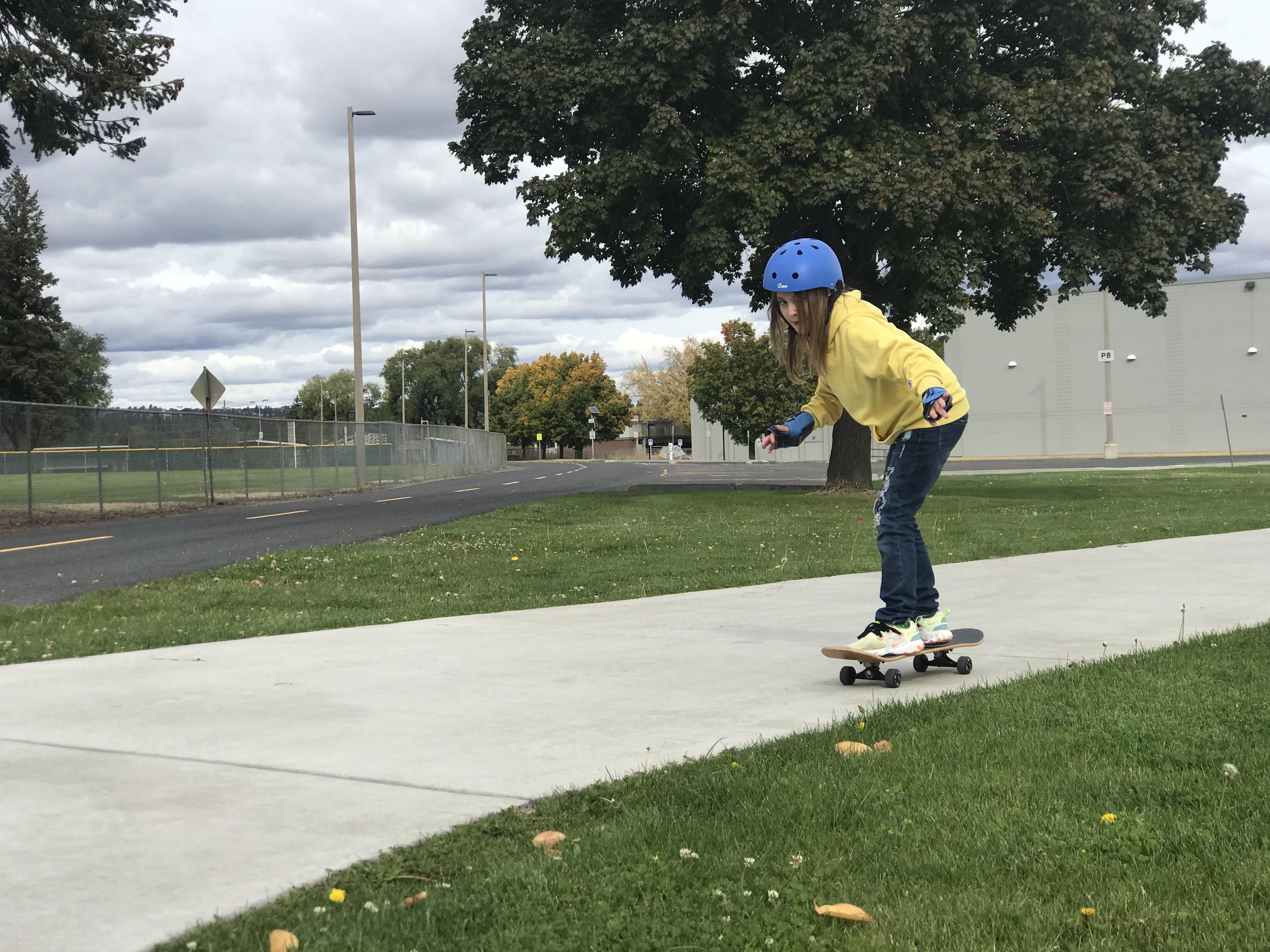 Skating at Spokane Falls Community College.